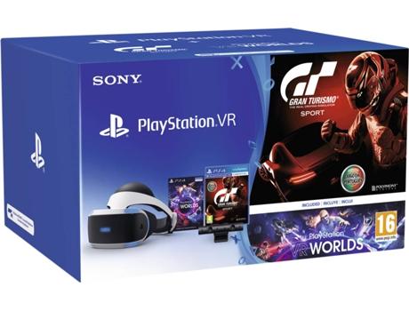 08133b0fd616e Óculos VR PSVR Câmara + VR Worlds + GT Sports (Preto)   Worten.pt