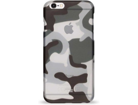 Capa ARTWIZZ Rubber Camouflage iPhone 6, 6s Cinzento — Compatibilidade: iPhone 6, 6s, 7 ,8