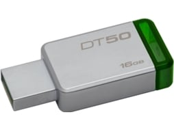 Pen USB KINGSTON DataTraveler 50 16GB USB 3.1 Metal/Verde — 16GB  | USB 3.0