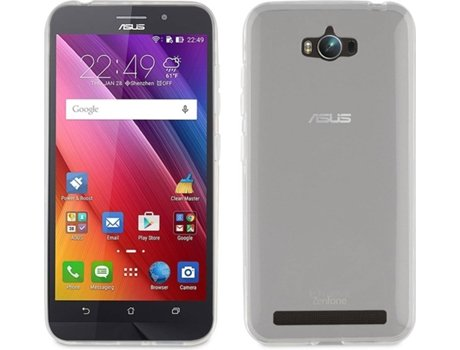 Capa MUVIT Crystal Soft Asus Zenfone Max Transparente — Compatibilidade: Asus Zenfone Max