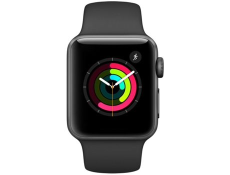 APPLE Watch Series 2 38 mm Cinzento Sideral, Preto — Bluetooth 4.0 e Wi-fi | 273 mAh | iOS