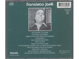 CD Francisco José - Canta As Mais Belas Canções — Fado