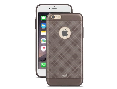 Capa MOSHI Tartan Walnut iPhone 6 Plus, 6s Plus Castanho — Compatibilidade: iPhone 6 Plus, 6s Plus