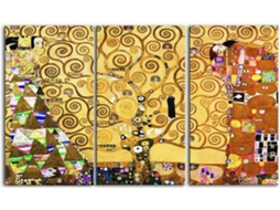 Quadro LEGENDARTE  Gustav Klimt - The tree of life (150x90  cm - 3 Painéis)