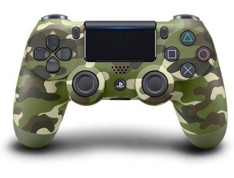 Comando SONY DualShock V2 Green Camouflage para PS4 (Wireless) — PS4