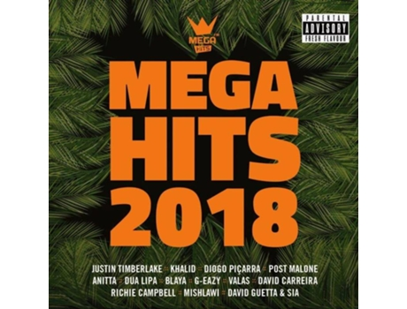 CD Vários - Mega Hits 2018 — Pop-Rock
