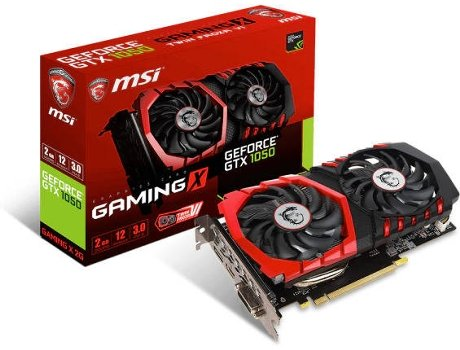 Placa Gráfica MSI GTX 1050 GAMING X 2GB DDR5 — GeForce GTX 1050 / 7108 MHz / 2048 GB GDDR5