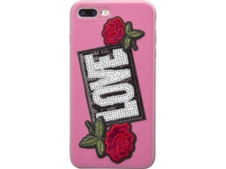 Capa SBS Love Patch iPhone 6 Plus, 6s Plus, 7 Plus, 8 Plus Rosa — Compatibilidade: iPhone 6 Plus, 6s Plus, 7 Plus, 8 Plus