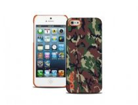 Capa SBS Camouflage iPhone 5, 5s, SE Laranja — Compatibilidade: iPhone 5, 5s, SE