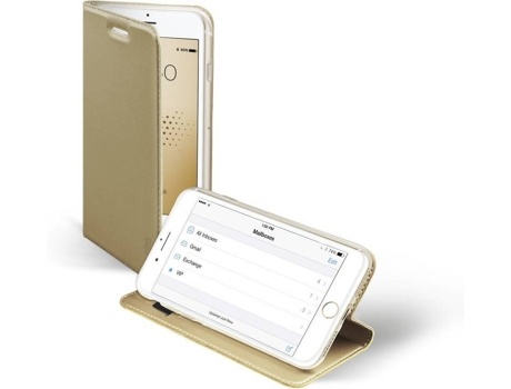 Capa SBS Book Stand iPhone 6, 6s, 7, 8 Dourado — Compatibilidade: iPhone 6, 6s, 7, 8