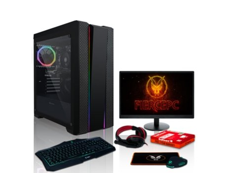 Pack Gaming FIERCE Revenger - 1134184 (Desktop Gaming + Monitor 24'' + HeadSet Gaming) — Sem Sistema Operativo | Wi-Fi