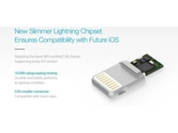 Cabo JUST-MOBILE Zincable Lightning Silv — Lightning - USB
