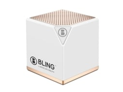 Coluna BT+DVD BLING Rhythm Box White — Bluetooth | 3W | Bateria: até 4h