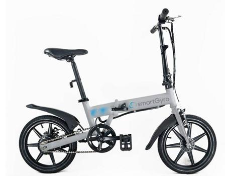 SMARTGYRO - Bicicleta Elétrica SMARTGYRO E-Bike Cinzenta (Velocidade Máx: 25 km/h  Autonomia: 30 a 50 km)
