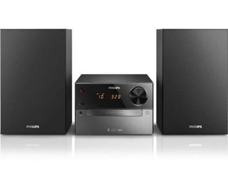 Aparelhagem Hi-Fi PHILIPS BTM2310/12 — 15 W | Bluetooth | CD,MP3
