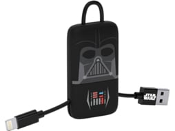 Cabo Lightning TRIBE Darth Vader Preto — USB - Lightning | 0.22 m