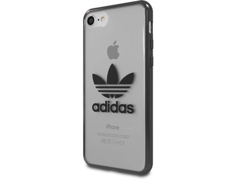 Capa ADIDAS Clear Case iPhone 7, 8 Preto — Compatibilidade: iPhone 7, 8