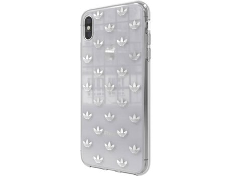 Capa iPhone XS Max ADIDAS Clear Prateado