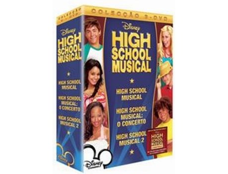 DVD Pack Hsm+Hsm Concerto+Hsm 2 — De: Kenny Ortega | Com: Zac Efron, Ashley Tisdale