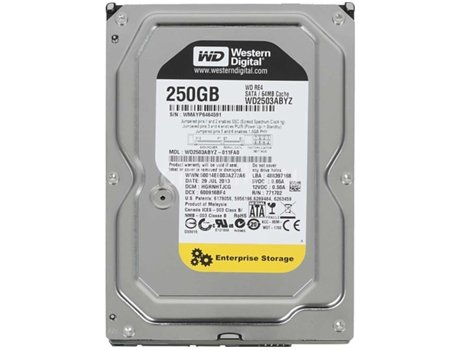 Disco Interno 3.5'' WESTERN DIGITAL 250GB RE4 WD2503ABYZ — 3.5'' / 250 GB / SATA3 6 Gb/s