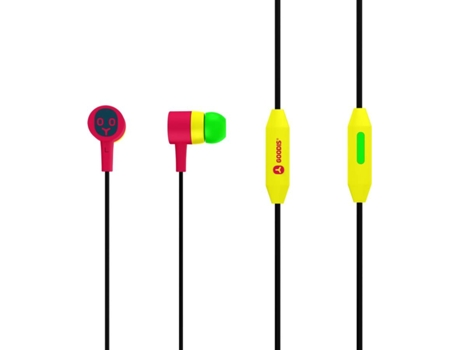 Auriculares Com fio GOODIS Rasta (In Ear - Microfone - Multicor) — In Ear | Microfone | Atende chamadas