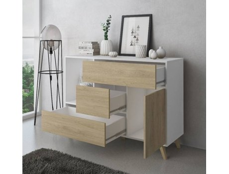 Aparador INNOVATION HOME FURNISH BUFFETWINDBLAPUCC (Branco - melamina - 120x40x86 cm)