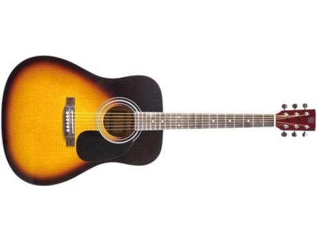 Guitarra Clássica OQAN QGA31 SB Sunburst (21 Trastes - Corpo: Madeira de Abeto e Tília)