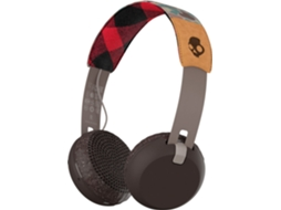 Auscultador Bluetooth SKULLCANDY GRIND Tan/Camo/Brown — 32 ohms / 98 dB