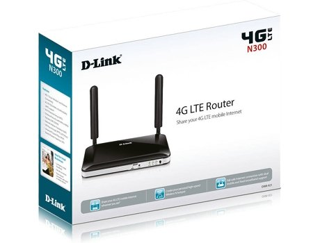 Router D-LINK 4G LTE DWR-921 — Single Band | 150 Mbps