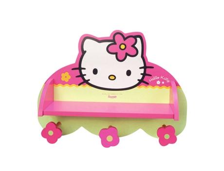 HELLO KITTY - Cabide de Parede HELLO KITTY c/ Prateleira