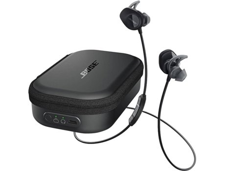 Auriculares BOSE Soundsport Wireless + Bolsa em Preto — Wireless