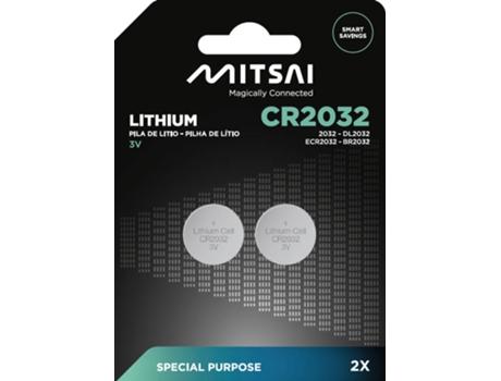 Pilhas Não Recarregáveis MITSAI CR2032 (CR - 2 Unidades) | [6671290 ]