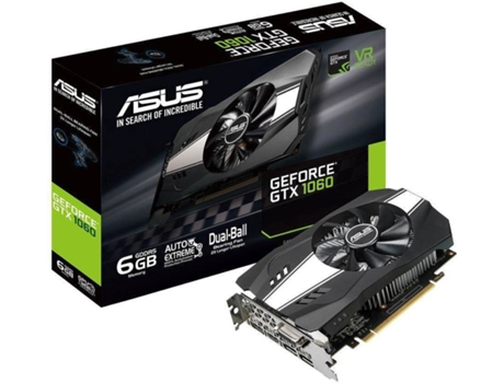 Placa Gráfica ASUS GeForce GTX 1060  Phoenix (NVIDIA - 6 GB DDR5) — NVIDIA | GeForce GTX 1060