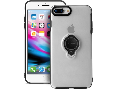 Capa PURO Magnet Ring iPhone 7 Plus, 8 Plus TRANSPARENTE — Compatibilidade: iPhone 7 Plus, 8 Plus