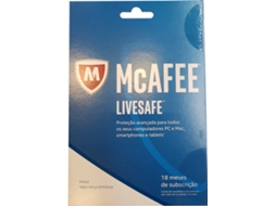 Software MCAFEE Livesafe 18M 2017 — Para PC/Mac/Smartphones/Tablets