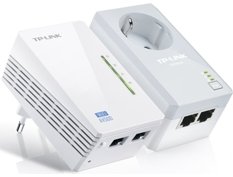 POWERLINE TP-LINK AV500 WIFI N300 PASSTHROUGH TL-WPA4226KIT — 2 uni. | 500 Mbps