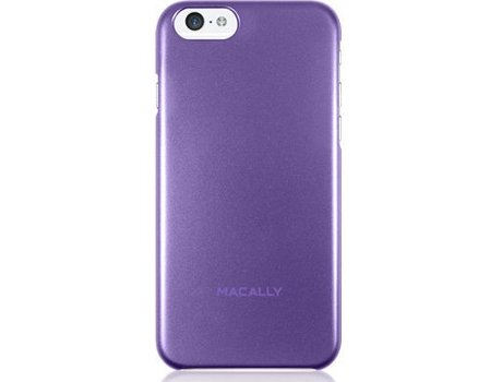 Capa MACALLY Metallic Snap-on Apple iPhone 6, 6s Roxo — Compatibilidade: iPhone 6, 6s