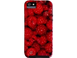 Capa iPhone 4, 4s CASE-MATE BarelyThere Framboews Vermelho — Compatibilidade: iPhone 4, 4s
