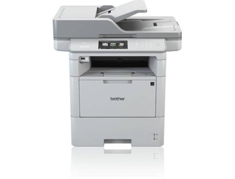 BROTHER - DCP-L6600DW - Mult. com scanner Horizontal sem fax: Impressora laser de alta produtividade, com duplex automático 3 em 1 e rede cablada, WiFi, Bandeja 520 folhas, Velocidade 46 ppm, Conexão móvel e nuvem, Segurança
