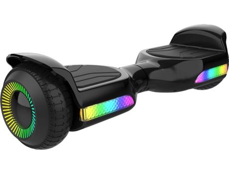 Hoverboard Gyroor Led 6 5 Preto Velocidade Máxima 12km H Autonomia 6 Km Worten Pt
