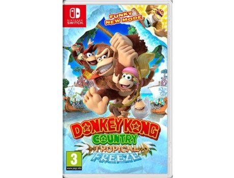 Jogo Nintendo Switch Donkey Kong Country: Tropical Freeze — Plataformas / Idade mínima recomendada: 3