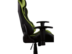 Cadeira Gaming WORLD OF GAMER Spider D344 em Verde — Amortecedor Classe 4