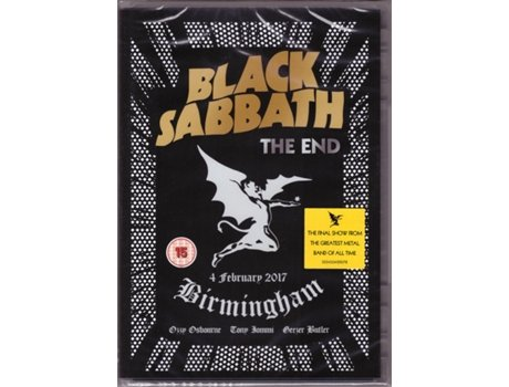 DVD Black Sabbath - The End (4 February 2017 - Birmingham)