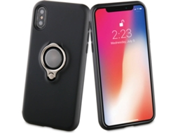 Capa MUVIT Ring Apple iPhone X Preto — Compatibilidade: iPhone X