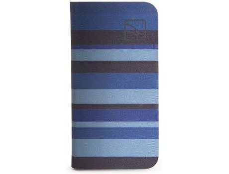 Capa TUCANO  Libro Stripes iPhone 6, 6s Azul — Compatibilidade: iPhone 6, 6s