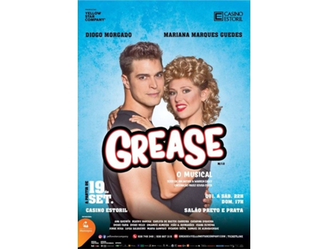 Bilhete Teatro Grease - O Musical — Casino Estoril - Salão Preto e Prata | Plateia