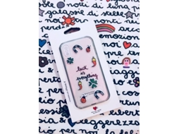Capa SILVIA TOSI Stickers Luck iPhone X, XS Multicor — Compatibilidade: iPhone X, XS