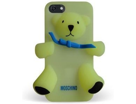 Capa MOSCHINO  Bear Gennarino iPhone 5, 5s, SE Amarelo — Compatibilidade: iPhone 5, 5s, SE