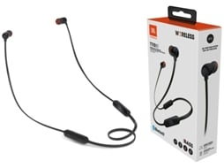 Auriculares Bluetooth JBL T110 (In Ear - Microfone - Preto) — In Ear | Microfone | Atende chamadas