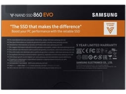 Disco SSD SAMSUNG 250GB 860 EVO Basic — 250 GB